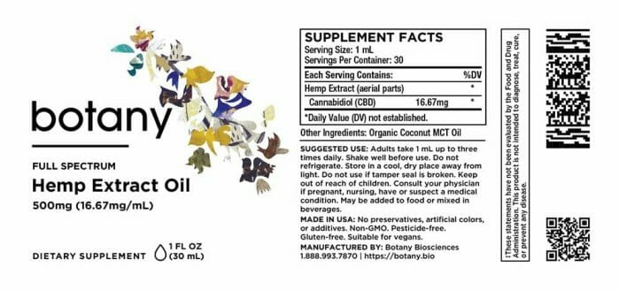 Hemp CBD Unrefined Extract (Full Spectrum) – Oil, 500mg (16.67mg/mL)