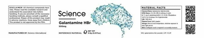 Galantamine HBR – Powder, 500mg