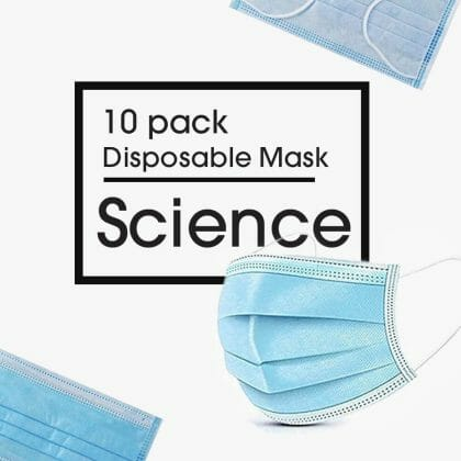 Disposable 3-Ply Face Mask – 10 Pack